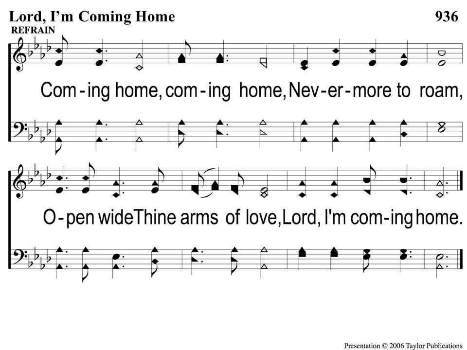 C Lord I'm Coming Home 936Lord, I'm Coming Home