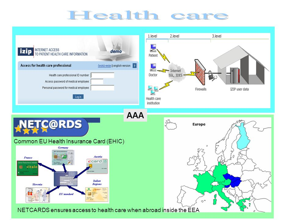NETCARDS ensures access to health care when abroad inside the EEA Common EU Health Insurance Card (EHIC) AAA