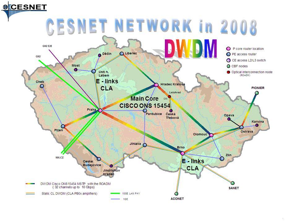 Main Core CISCO ONS 15454 E - links CLA E - links CLA