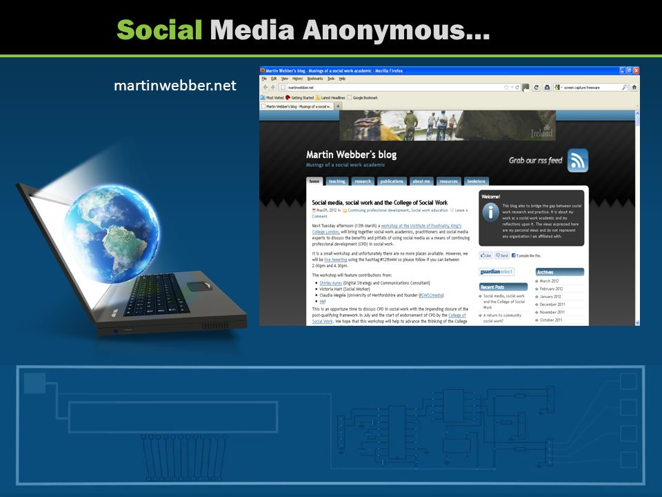 Social Media Anonymous… martinwebber.net