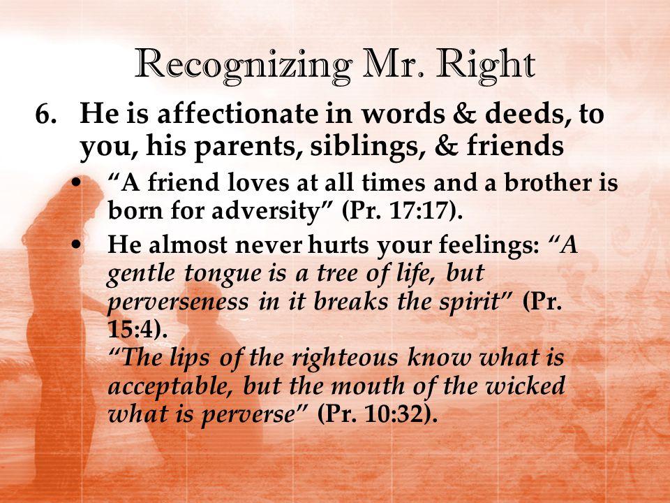 Recognizing Mr.