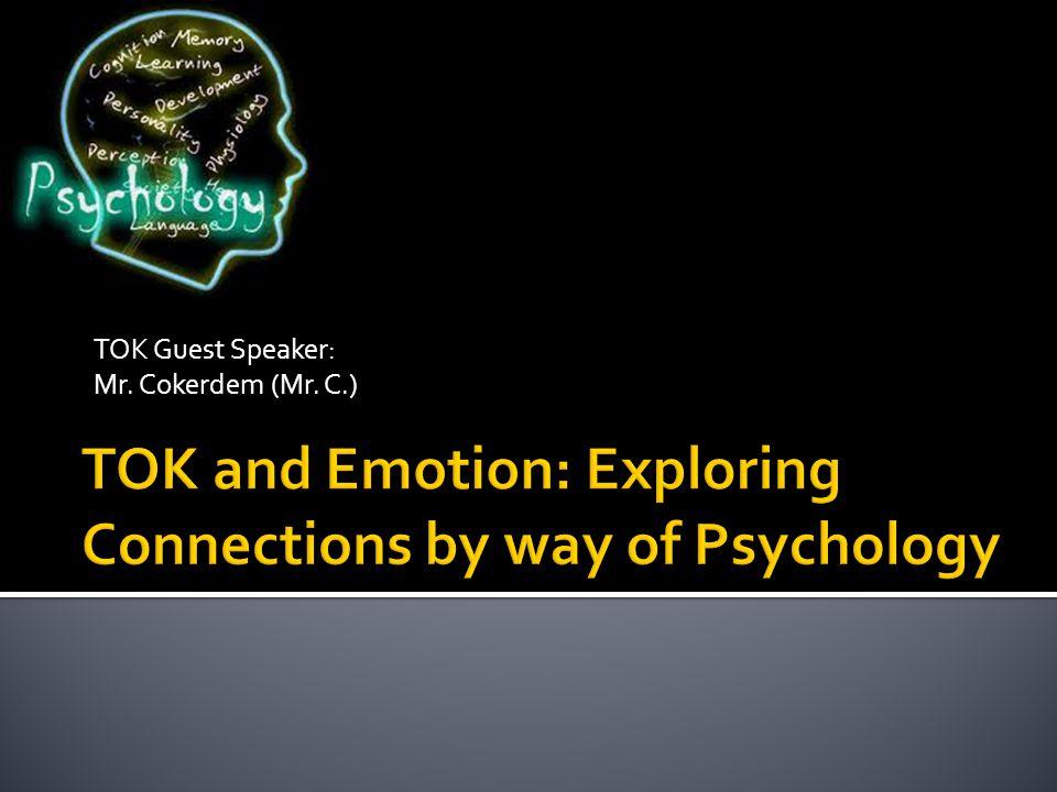 TOK Guest Speaker: Mr. Cokerdem (Mr. C.)