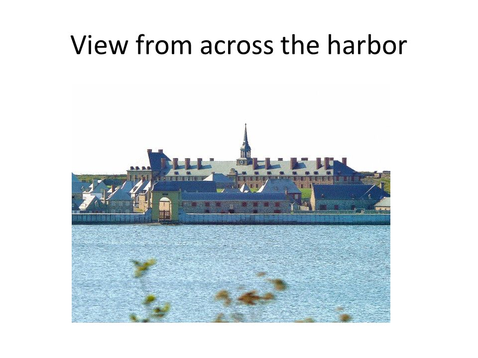 View from across the harbor