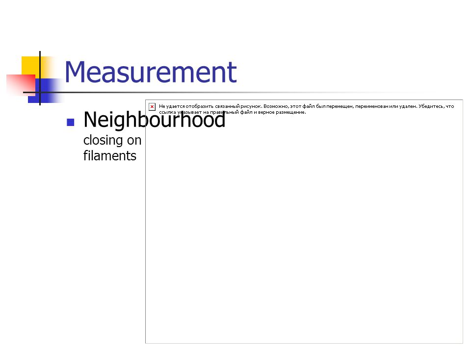 Measurement Neighbourhood closing on filaments