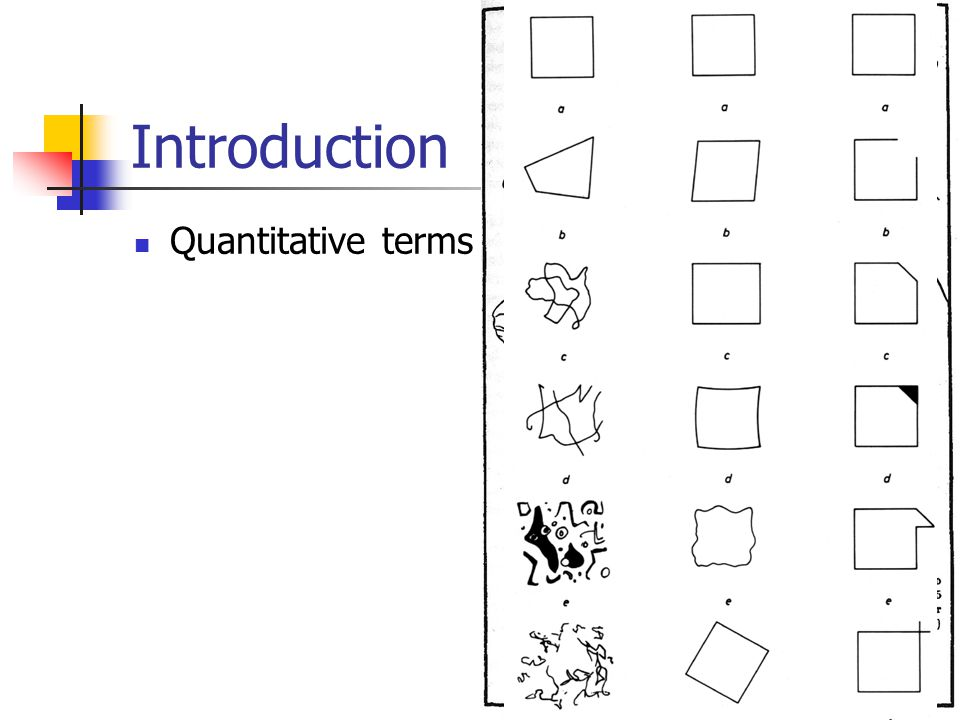 Introduction Quantitative terms