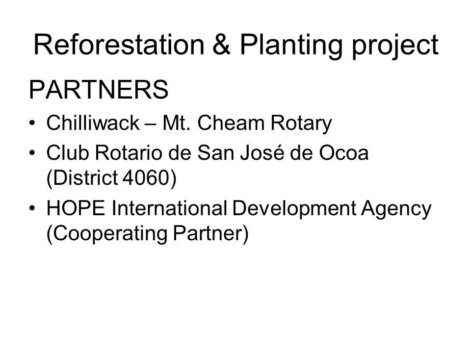 Reforestation & Planting project PARTNERS Chilliwack – Mt.