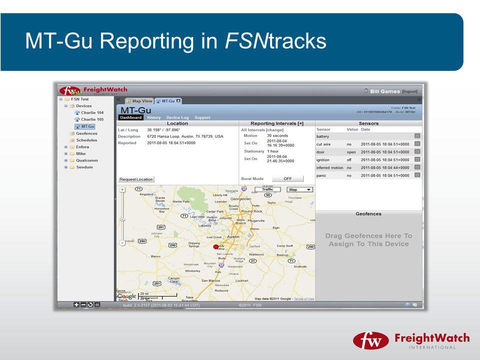 MT-Gu Reporting in FSNtracks