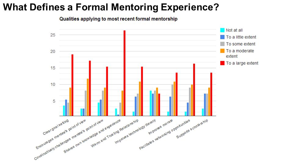 What Defines a Formal Mentoring Experience