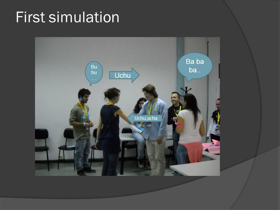 First simulation Bu bu … Uchu Uchu,acha Ba ba ba..