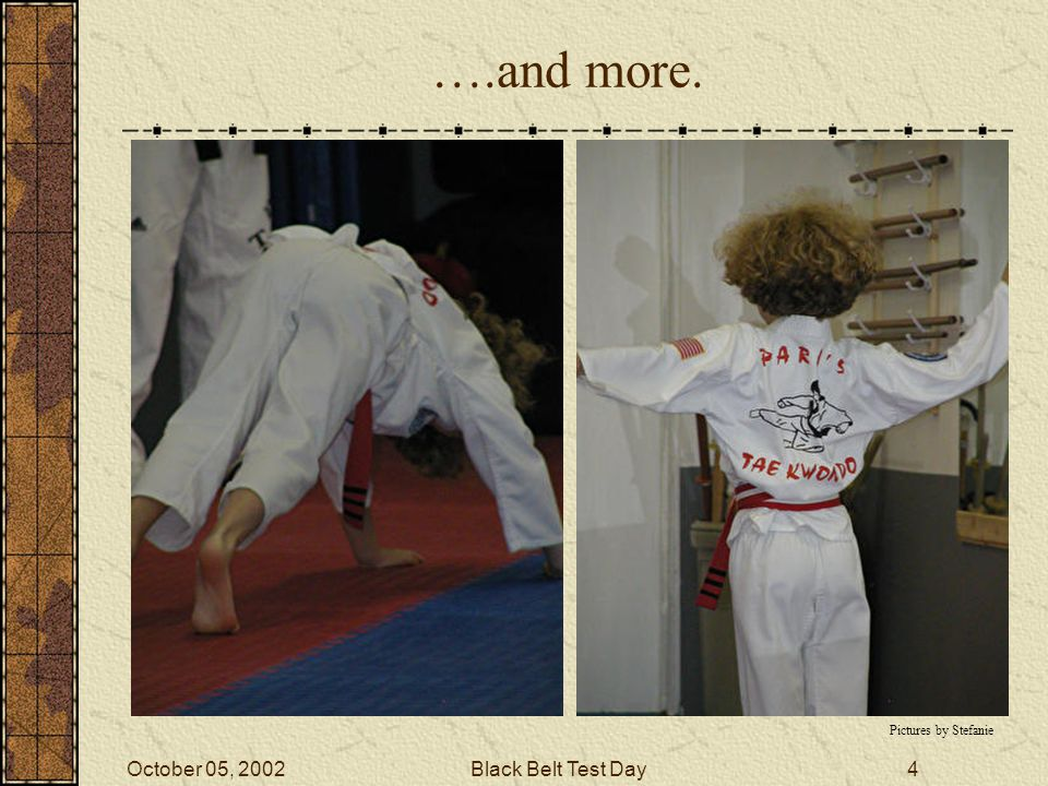 October 05, 2002Black Belt Test Day3 Push-ups… Picture from Master Park