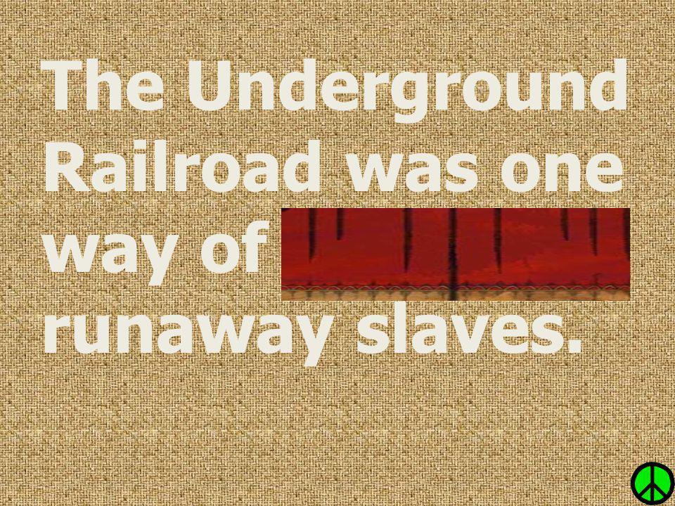 The Underground Railroad was one way of shielding runaway slaves.
