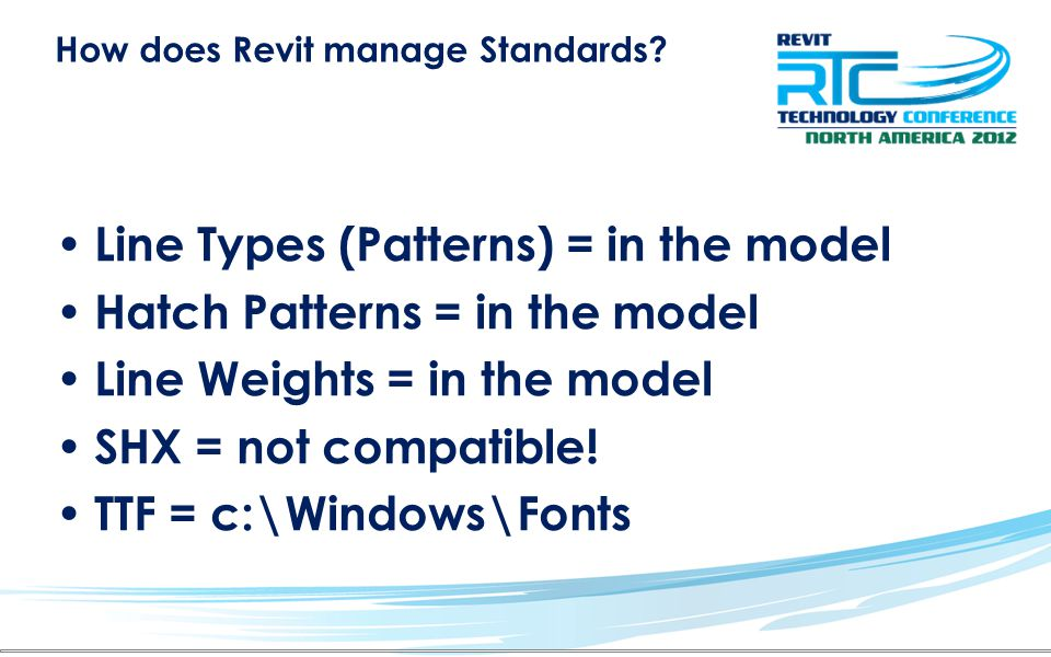 How does Revit manage Standards.