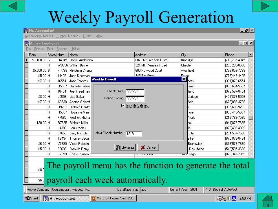 Payroll – Misc.