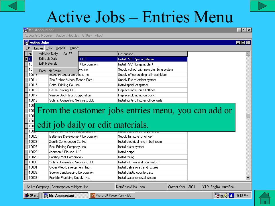 Active Jobs – Select Job File From the active jobs editor, you can select the file tab and select the specific job database you would like to view.