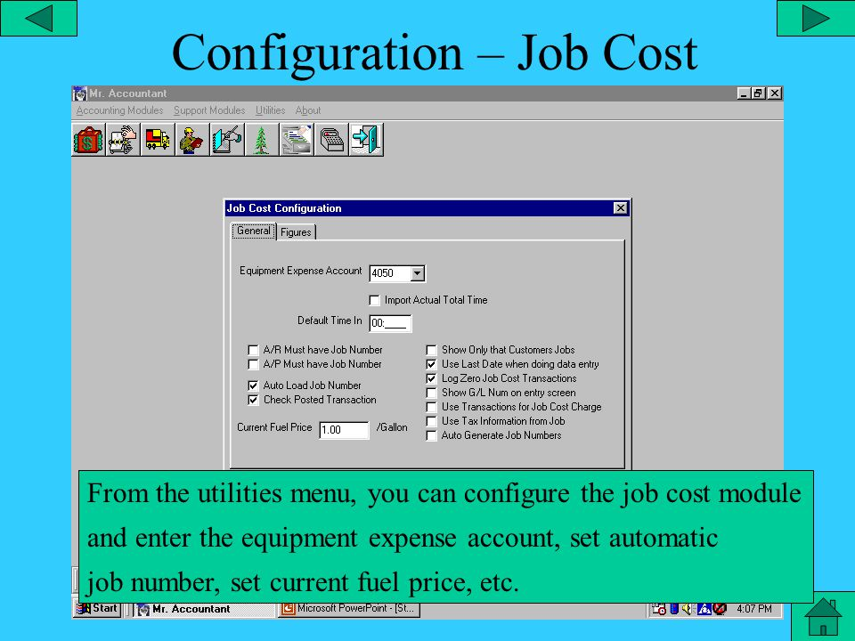 Configuration – State Tax Chart From the utilities menu, you can configure the payroll state tax chart and enter the tax rates for each threshold of income for employees that are single, married, etc.