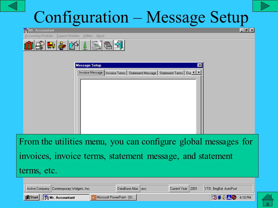 Configuration – Printers From the utilities menu, you can configure all the printers.