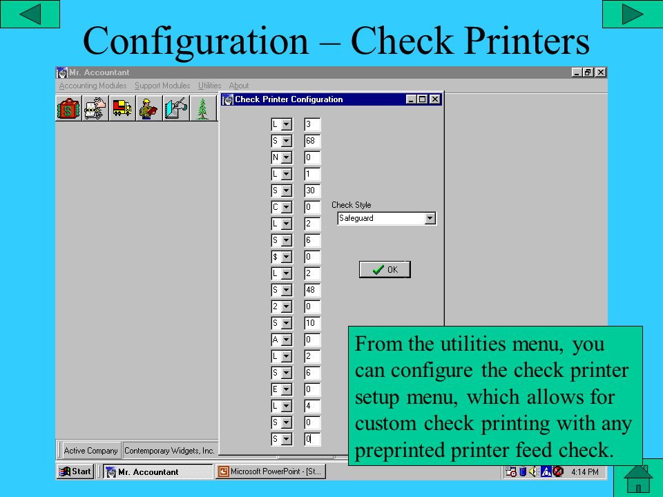 Configuration – System Locks From the utilities menu, you can configure the system locks which allow certain modules of the program to be locked from employees without authorization.