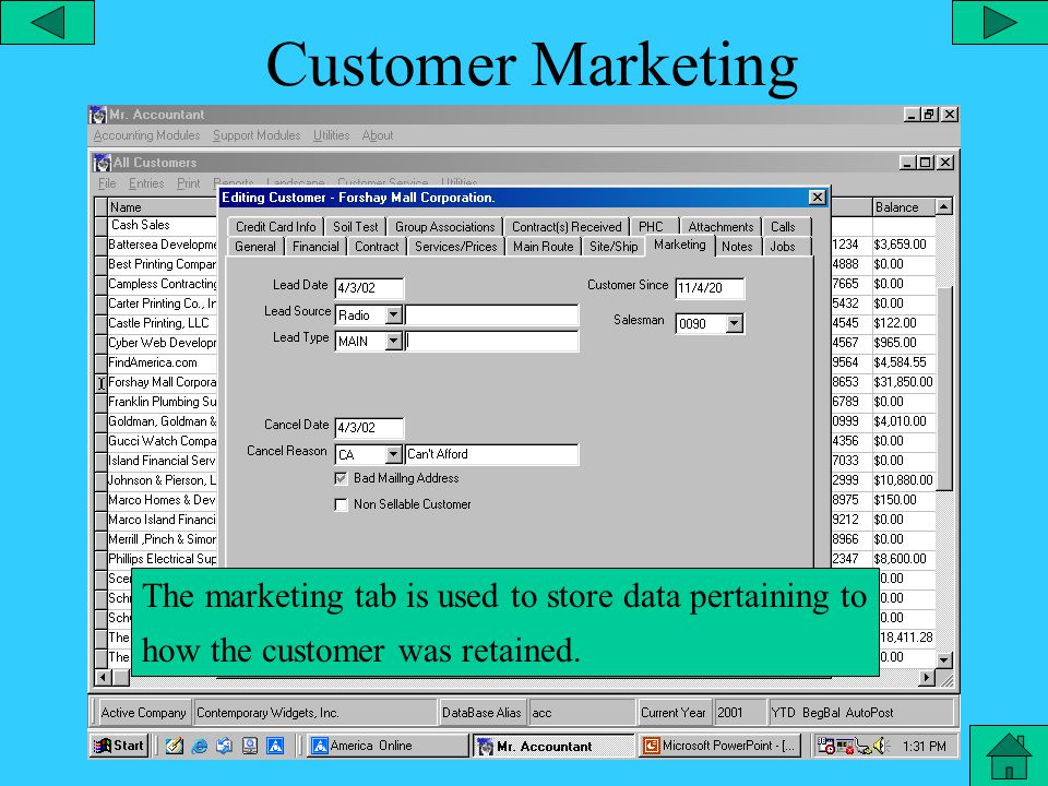 Customer Site/Ship The customer site/ship tab is for storing the customer's physical address if it is different from the billing address.
