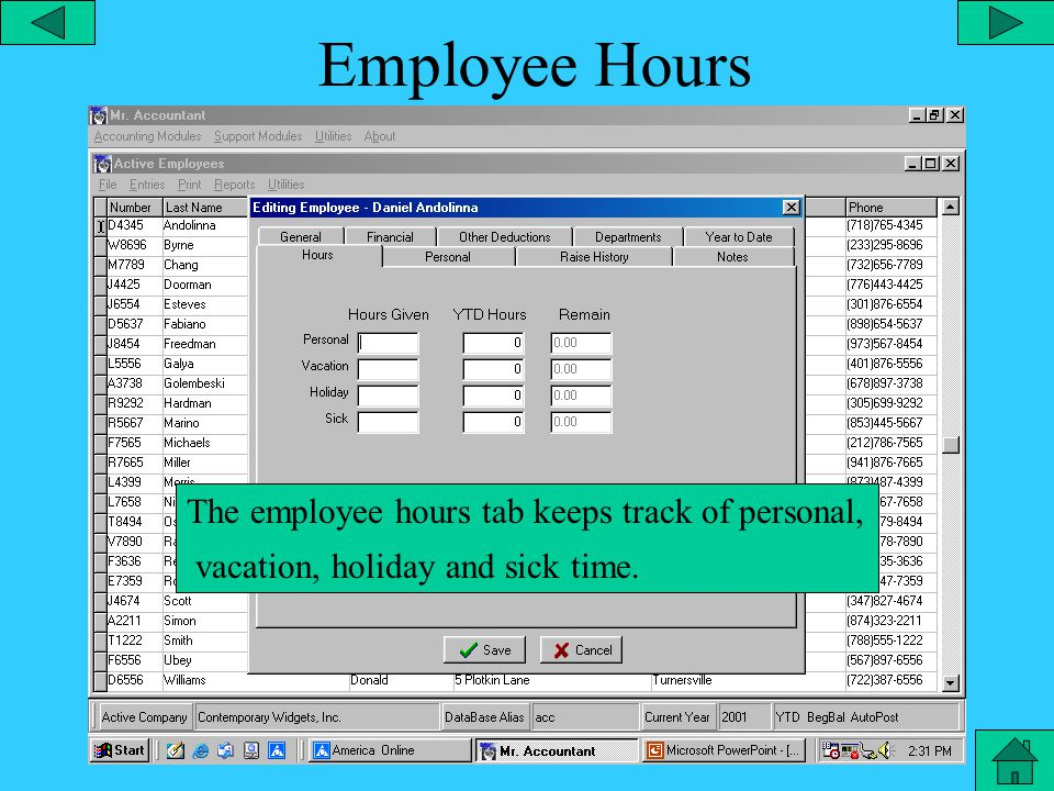 Employee YTD The employee YTD tab is for keeping track of year to date totals for employee hours, wages and taxes.
