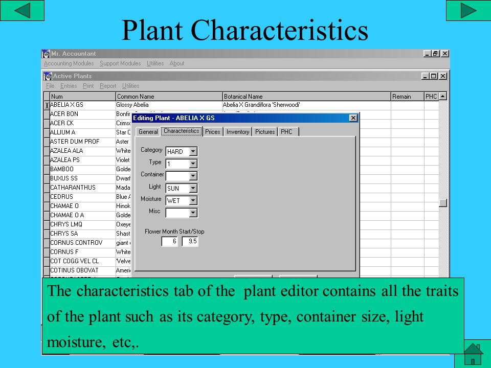 Plant Edit The general tab of the plant editor allows you to add information about the plant.