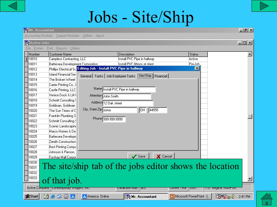 Jobs – Employee Tasks The job/employee tasks tab in the active jobs editor pertains to the certified payroll calculation for each job.