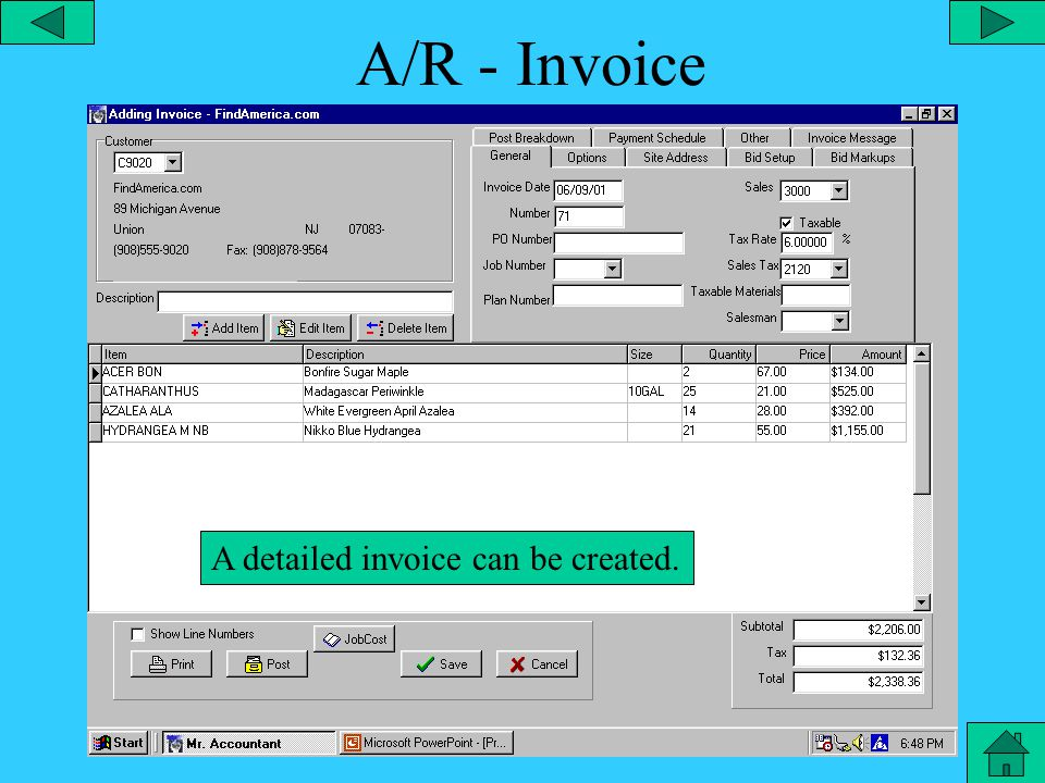 A/R – Special Functions From the utilities menu, you can select the special functions menu to update prices or set codes for salesman.