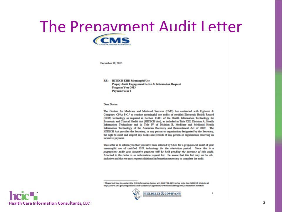 Health Care Information Consultants, LLC The Prepayment Audit Letter 3