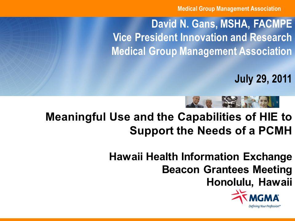 Copyright 2011.Medical Group Management Association.