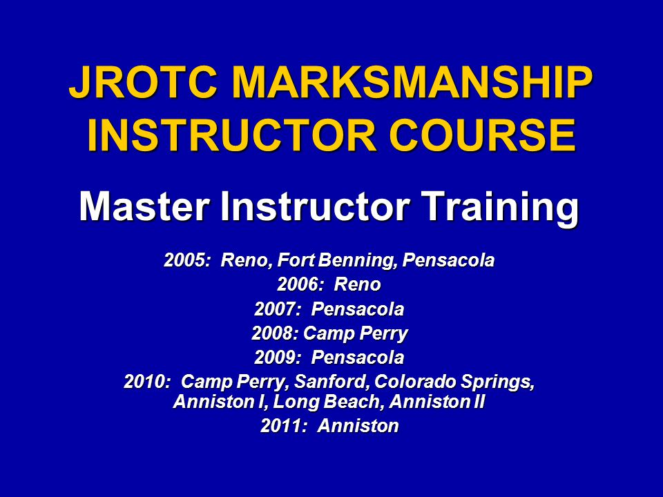 JMIC Results To Date  12 JMIC MI Courses Completed (5 in 2010)  340 Master Instructors Trained & Certified  4,721 Instructors certified:  Army 2,601  USMC 398  Navy 1,488  Air Force 234  961 Army JROTC Unit Inspections Completed  Two injury-causing safety incidents since program began (Jan05-Mar11)