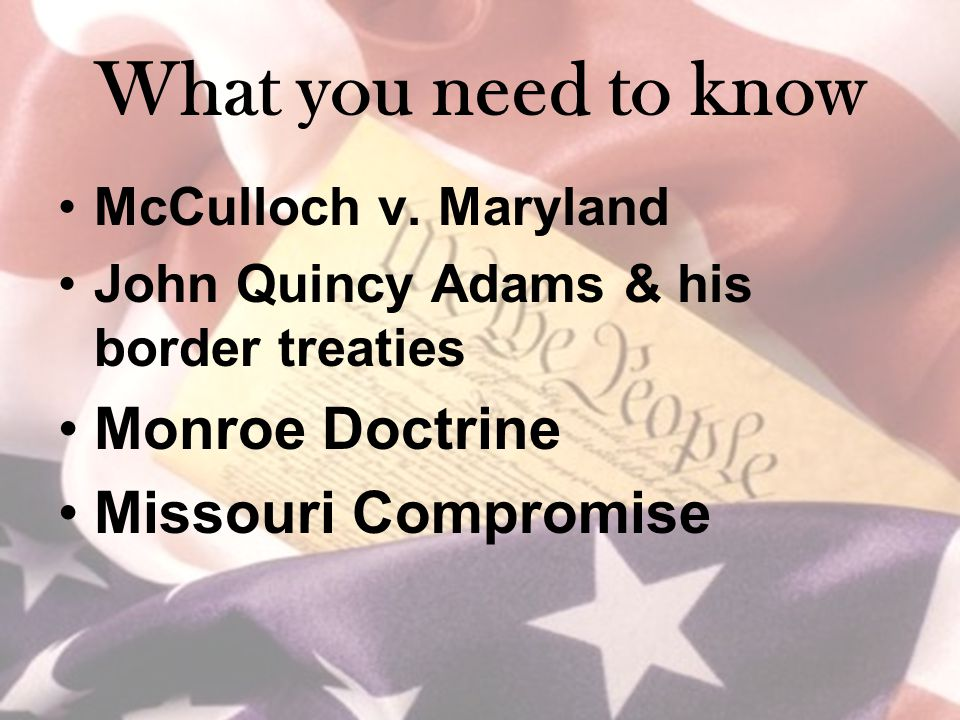 What you need to know McCulloch v.