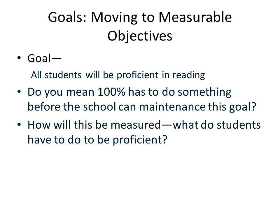 Measurable Objectives They Help Answer Our Questions About Student Proficiency