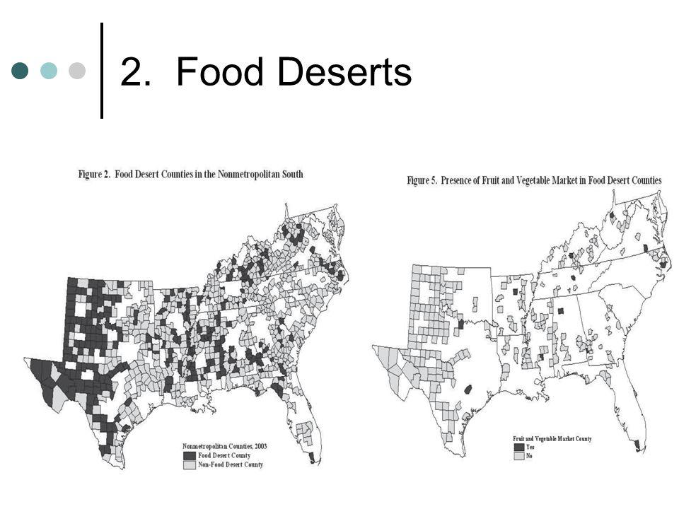 2. Food Deserts