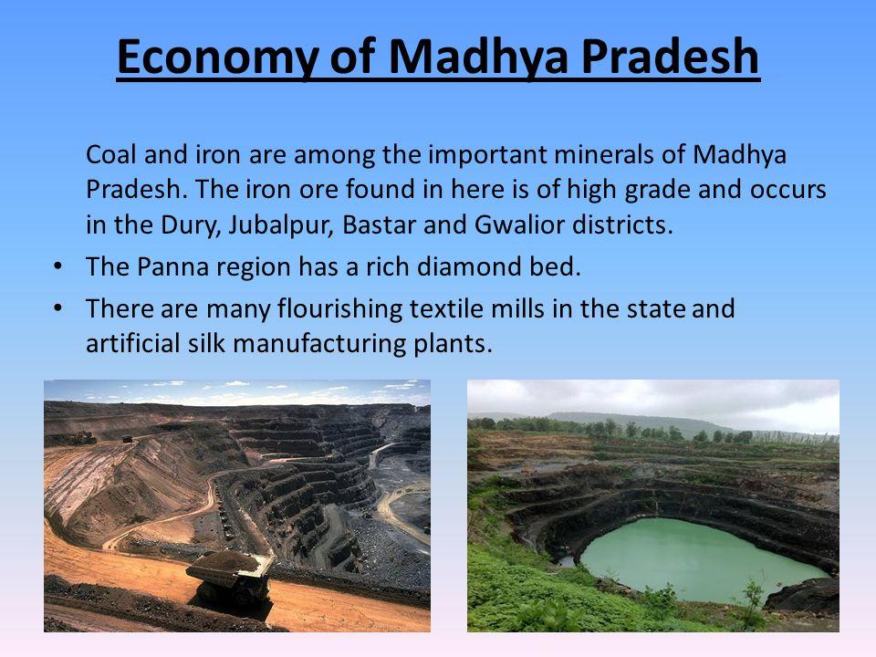 Economy of Madhya Pradesh Coal and iron are among the important minerals of Madhya Pradesh.