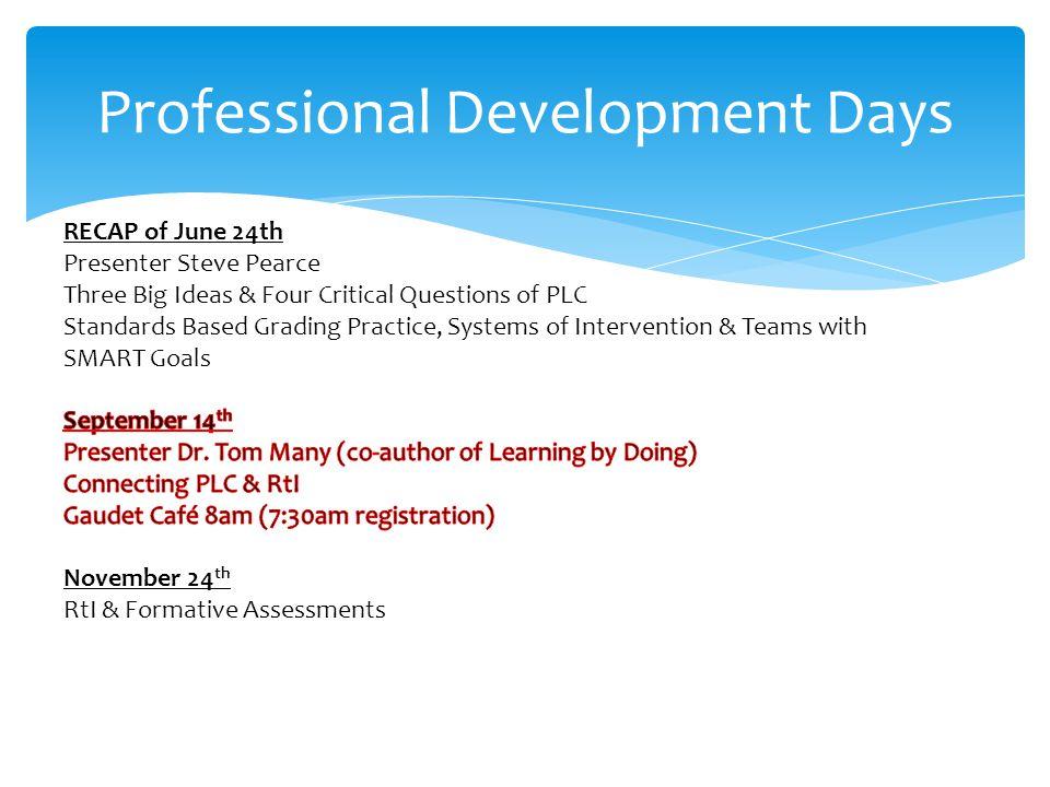 Professional Development Days