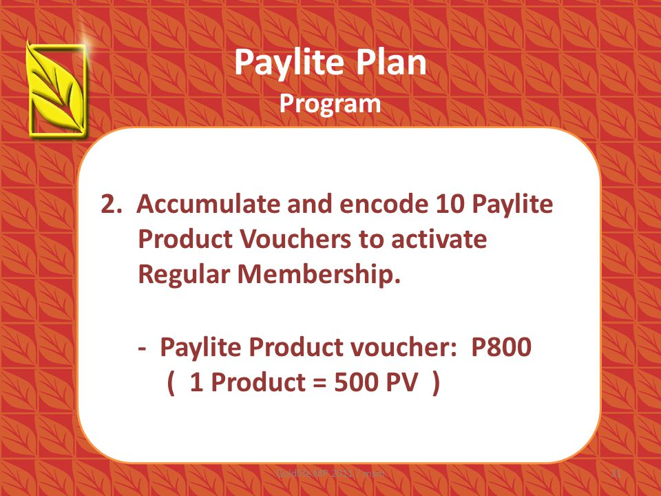 Paylite Plan Program 2.