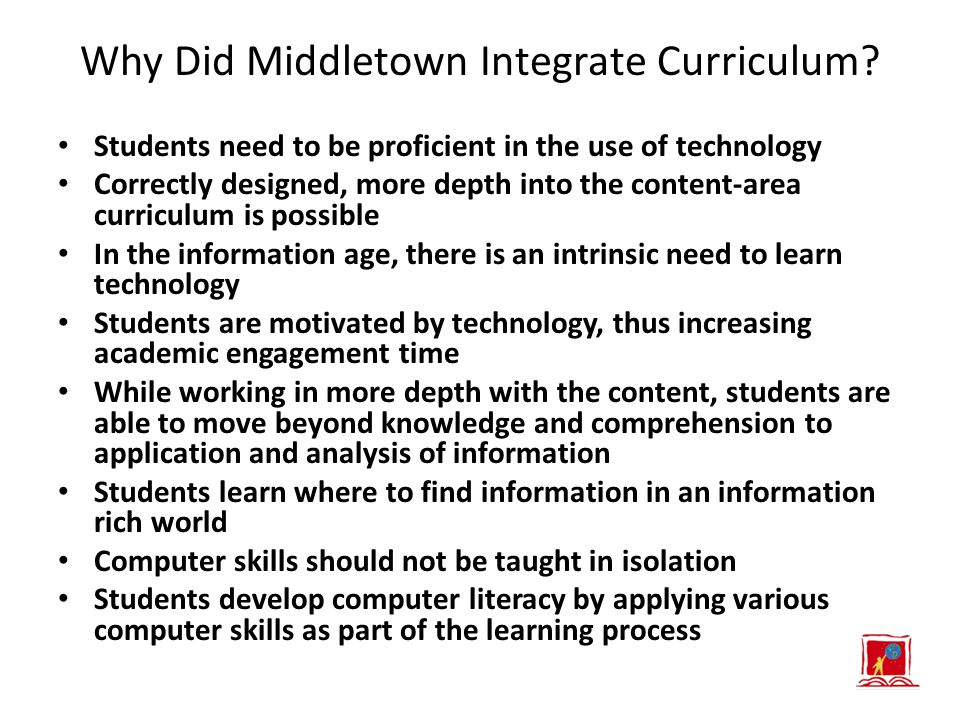 Why Did Middletown Integrate Curriculum.