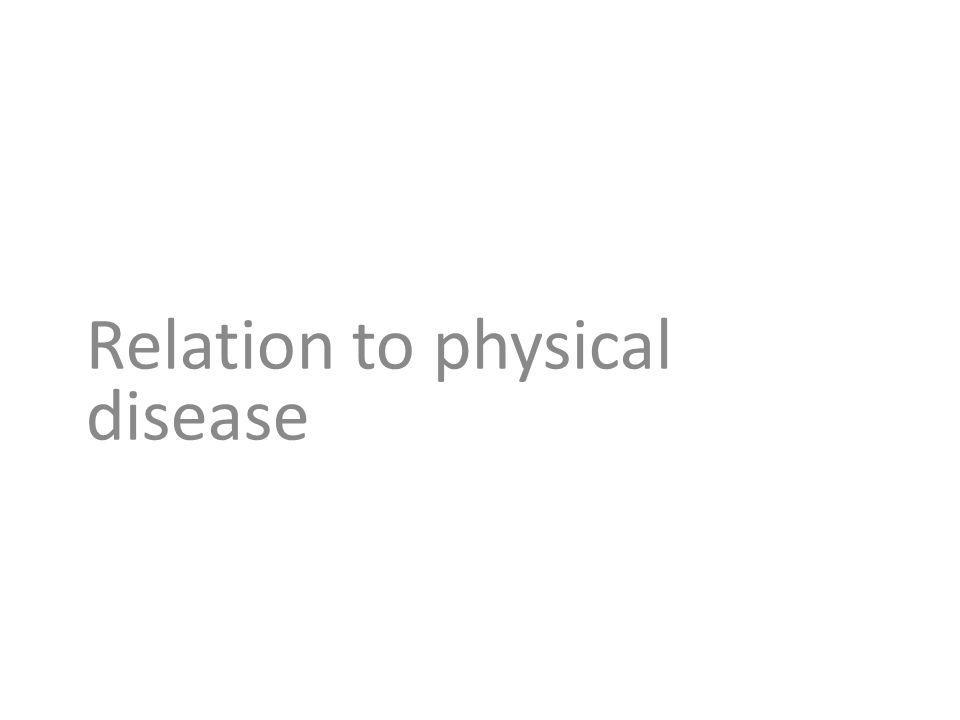Relation to physical disease