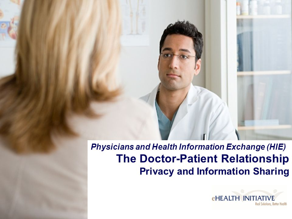 Copyright © eHealth Initiative, 2006 Physicians and Health Information Exchange (HIE) The Doctor-Patient Relationship Privacy and Information Sharing