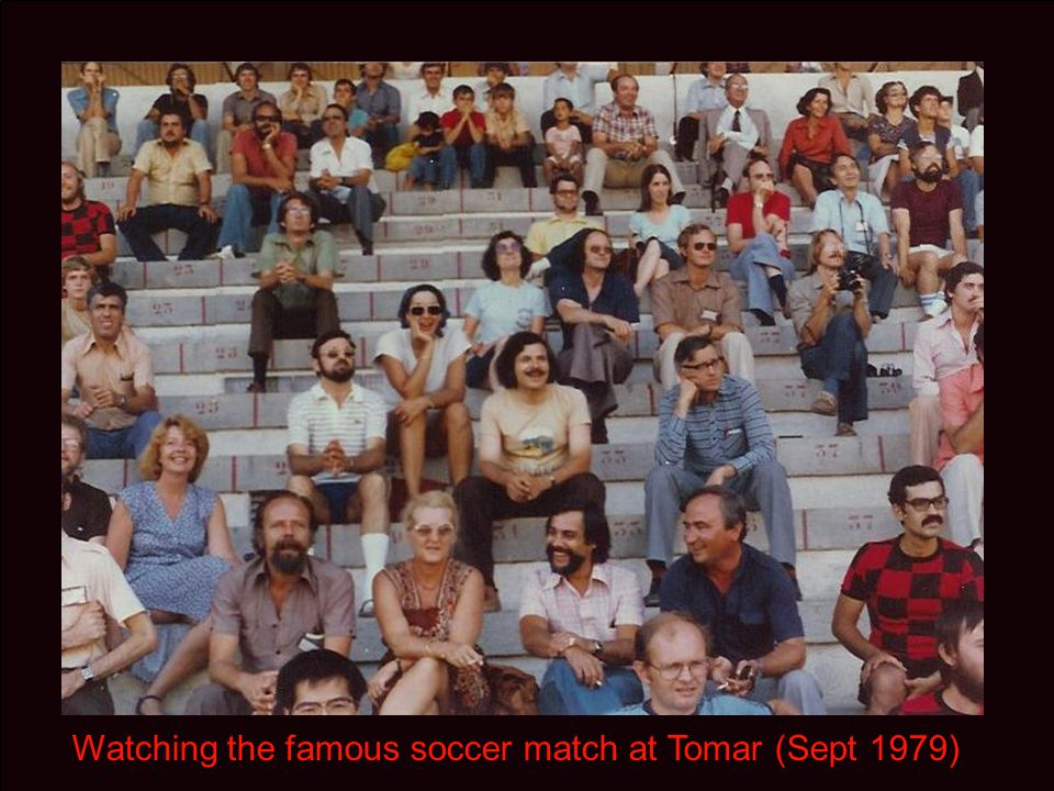 Watching the famous soccer match at Tomar (Sept 1979)