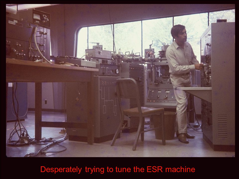 Desperately trying to tune the ESR machine