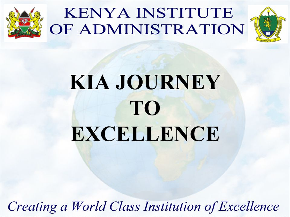 The new KIA realized that it had to play a leading role in this Public Service Reform & Development Initiative.