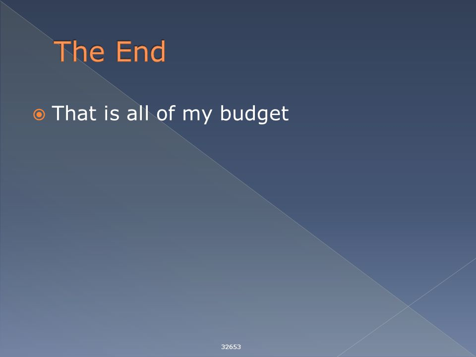  That is all of my budget 32653