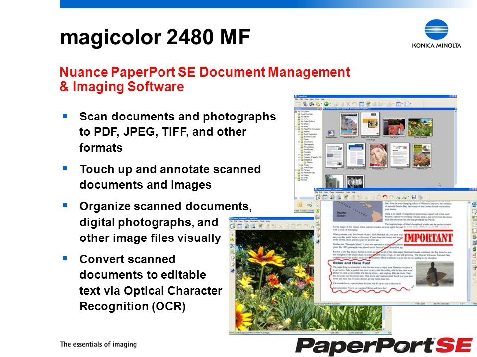 9 A Quality Scanner... * From an idle, ready state 6 seconds/page 12 seconds/page Color or b&w Flatbed or ADF 24 bits 600 x 600 dpi Up to 8.5