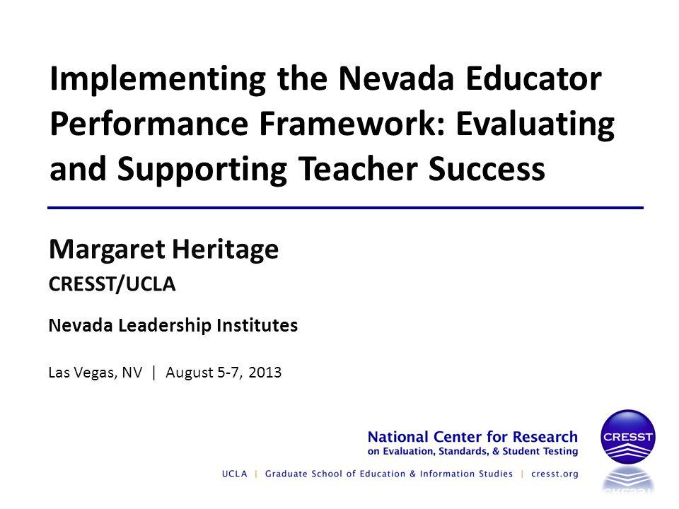 Descriptors and Performance Levels Descriptors correspond to Performance Levels