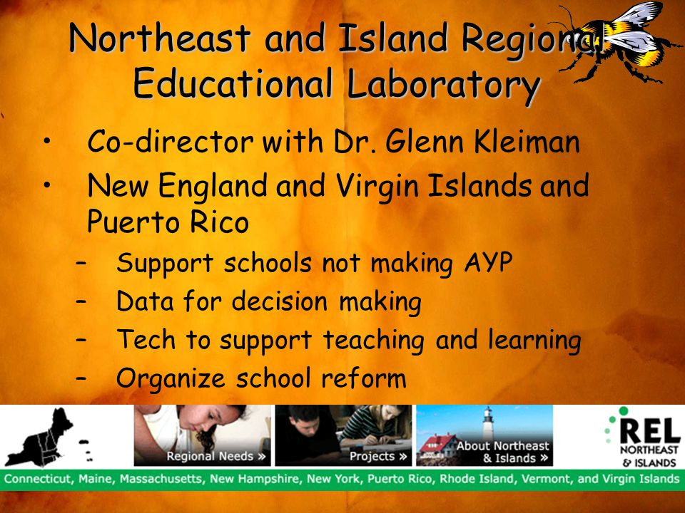 Northeast and Island Regional Educational Laboratory Co-director with Dr.