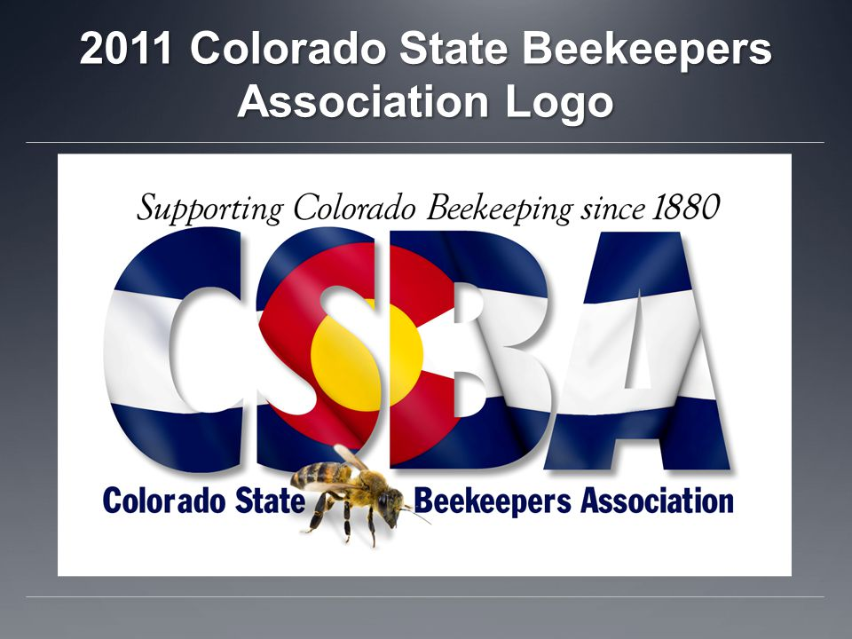 2011 Colorado State Beekeepers Association Logo