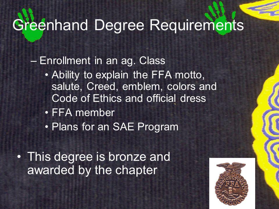 –Enrollment in an ag.