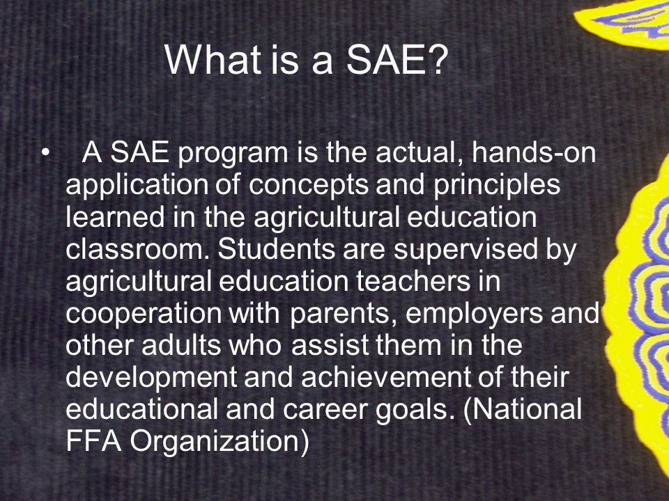 What is a SAE.