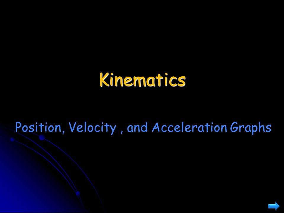 Kinematics Position, Velocity, and Acceleration Graphs