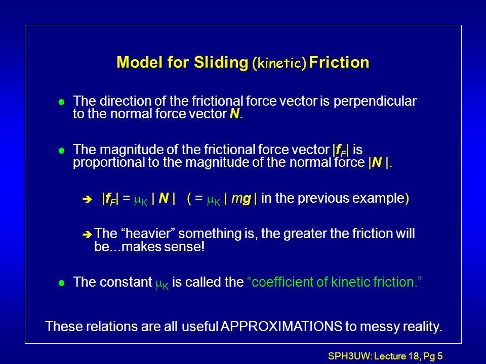 SPH3UW: Lecture 18, Pg 6 Model...